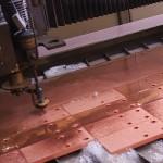 découpe cuivre au jet d'eau