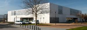 facade aluminium mediatheque la clairiere